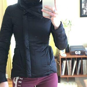 BCBG maxazria Asymmetrical size zip coat